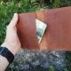 Lietuviškas odinis dėklas medžiotojo bilietui, pasui,  PDA1U0K0